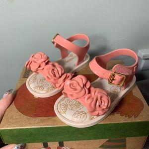Mini Melissa Size Pink Dusty Rose Sandals NWB